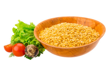 Yellow raw Lentils