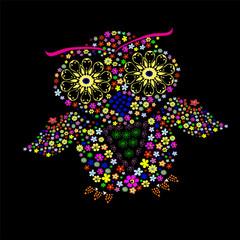 цветочная сова