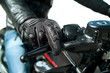 hand of motorcyclist