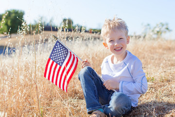 boy celebrating 4th of July