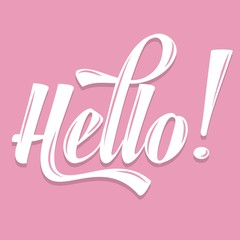"Calligraphic  Writing ""Hello"""