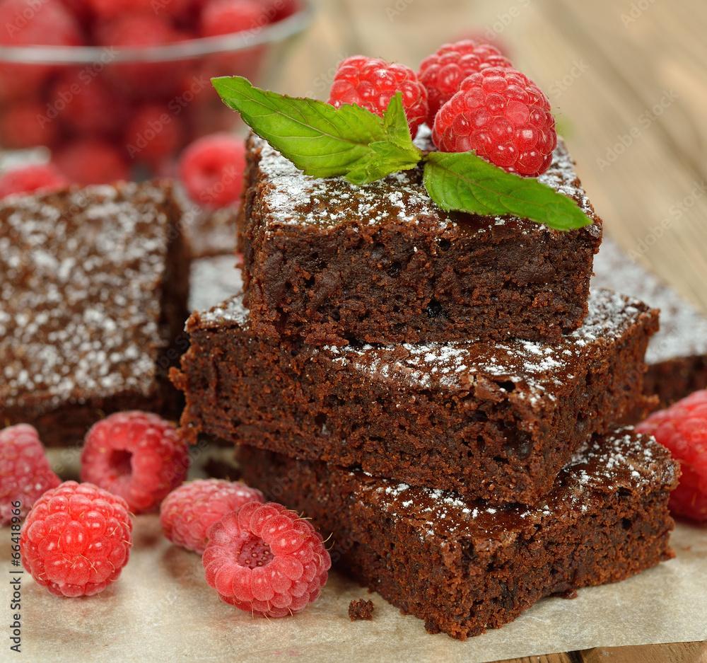 czekolada ciastko malina - powiększenie