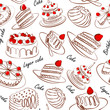 Bakery; seamless; vector; pattern; illustration; background; gra