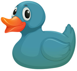 A light blue rubber duckie
