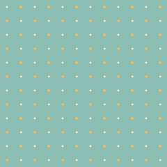Colorful seamless polka dot pattern on turquoise background
