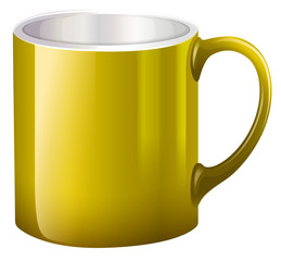 A big yellow mug