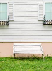 Vintage white bench