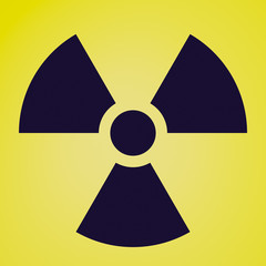 Retro look Radiation symbol