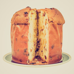 Retro look Panettone bread
