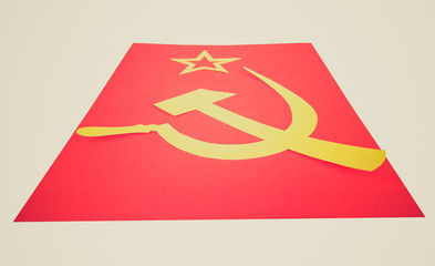 Retro look CCCP Flag