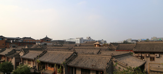 View of the city of Xian (Sian, Xi'an), China