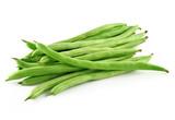 Fototapety green beans on white background
