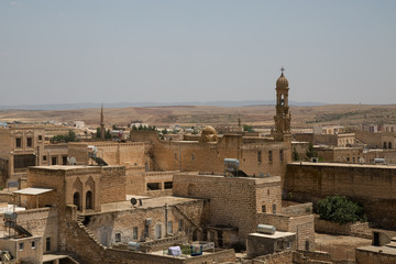 view of old town of Midyat
