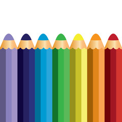 colorful pencil vector