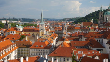 Beautiful cityscape of Prague