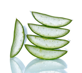 aloe vera isolated over white