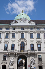 The oldest part of Hofburg palace in Vienna, Austria