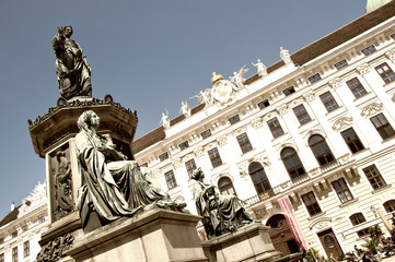 Monument to Emperor Franz I in Hofburg palace in Vienna