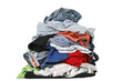 canvas print picture - pile of clothes