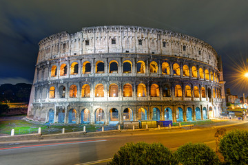 Colosseum (Coliseum) at night in Rome