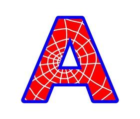 A letter - spider web alphabet