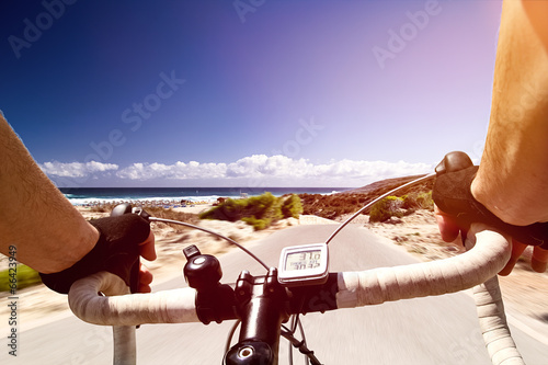 Leinwanddruck Bild Racing Bike