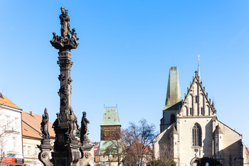 church of Saint Barthelemy and the plague column, Rakovnik, Czec