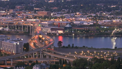 Marquam Bridge Time Lapse Zoom