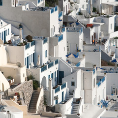 Terraces in Fira, Santorini