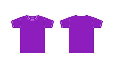 紫色のTシャツ