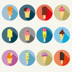 Vector ice cream collection