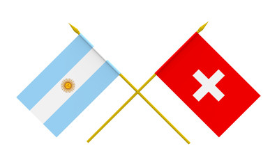 Flags, Argentina and Switzerland