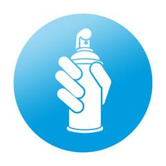 Etiqueta redonda aerosol