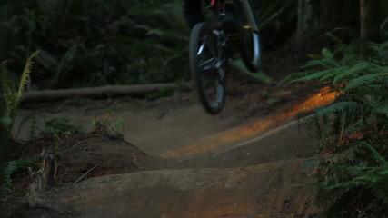 Mountain Biking Jumps Slow Motion