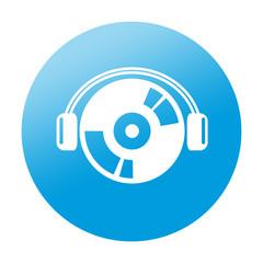Etiqueta redonda audio