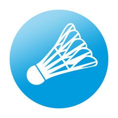 Etiqueta redonda badminton
