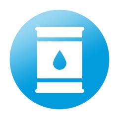 Etiqueta redonda bidon de petroleo