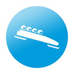 Etiqueta redonda bobsleigh