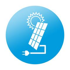 Etiqueta redonda panel solar