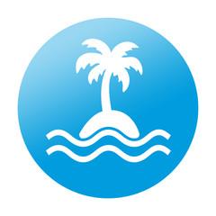 Etiqueta redonda isla