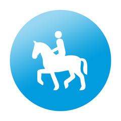 Etiqueta redonda equitacion