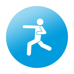 Etiqueta redonda karate