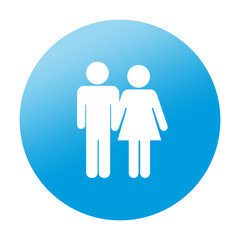 Etiqueta redonda pareja