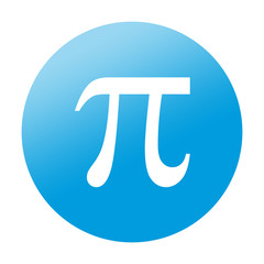 Etiqueta redonda simbolo pi