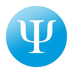 Etiqueta redonda simbolo psi