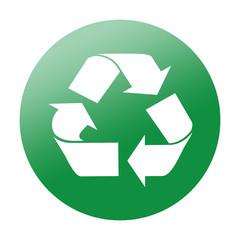Etiqueta redonda reciclaje