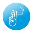 Etiqueta redonda zona de fumadores