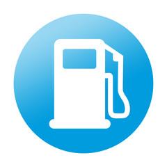 Etiqueta redonda gasolinera