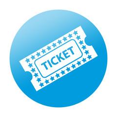 Etiqueta redonda ticket