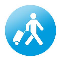 Etiqueta redonda viajero